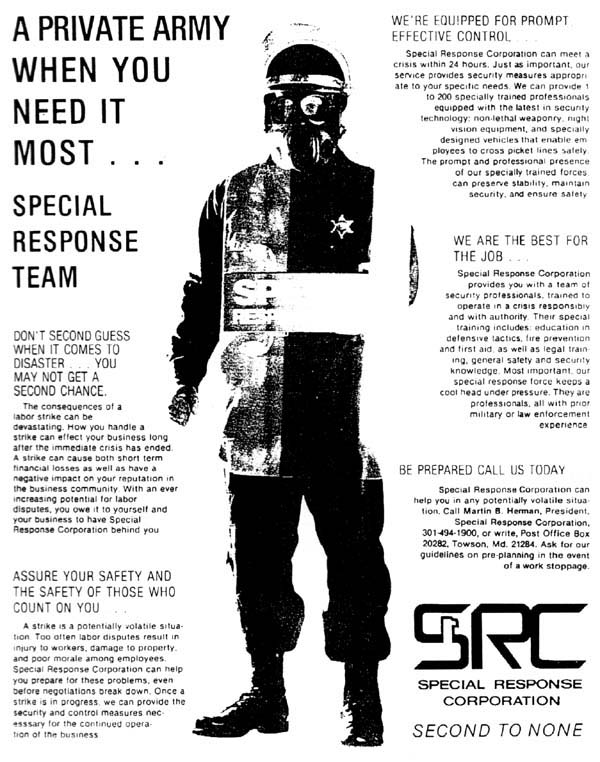 Special Response Corporation